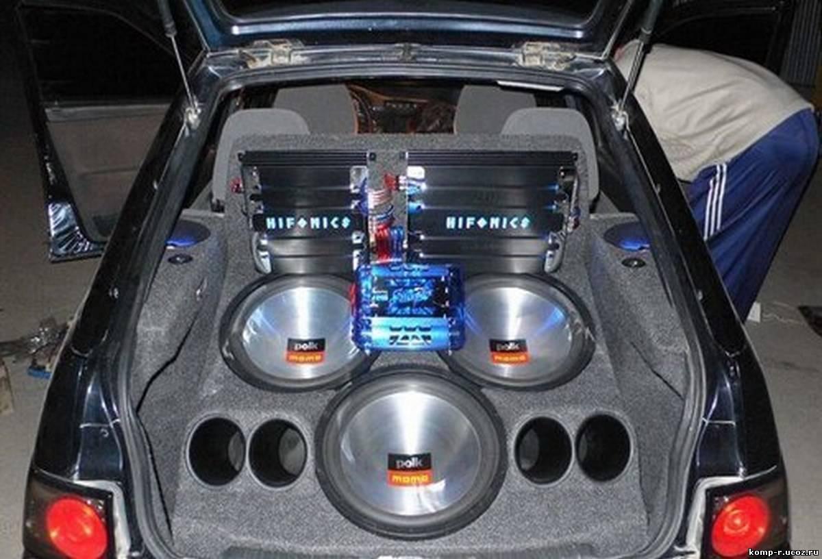 Как сделать музыку в машине с сабвуфером