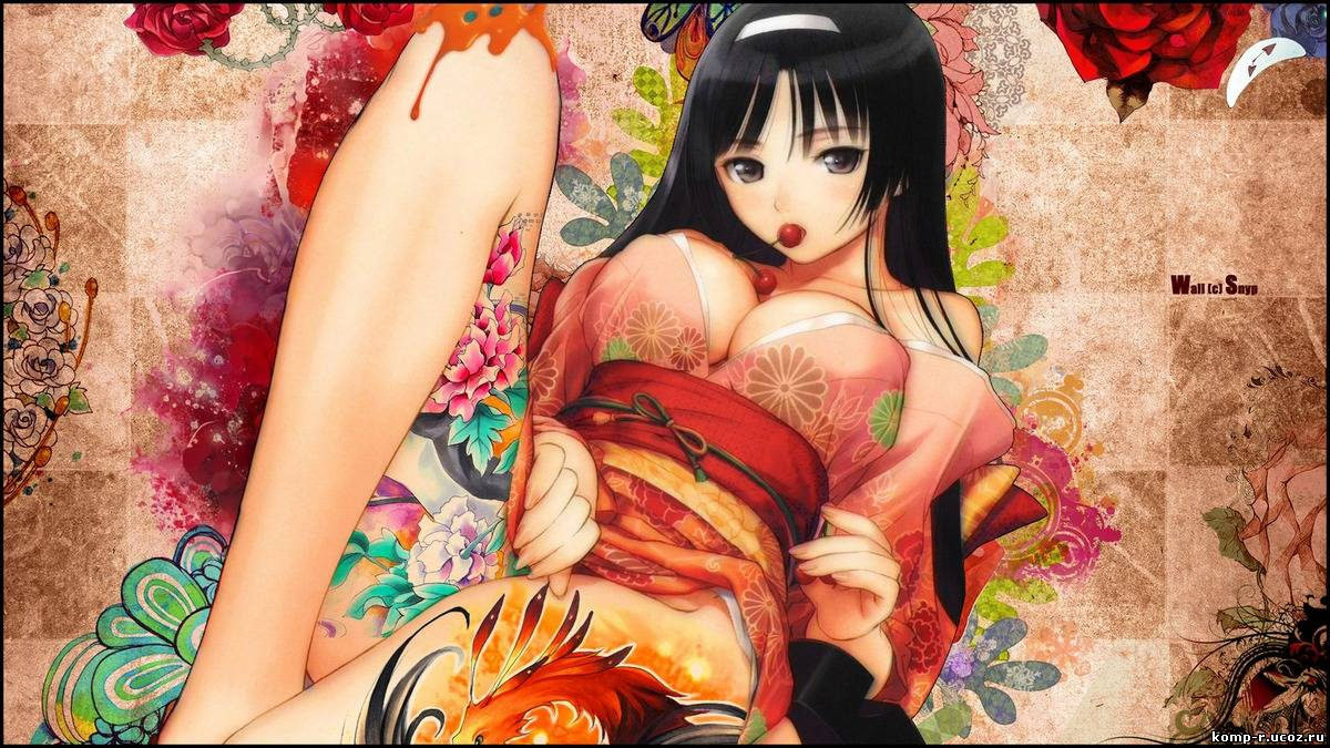 Anime girl with tattoo demon on her  hentai galleries